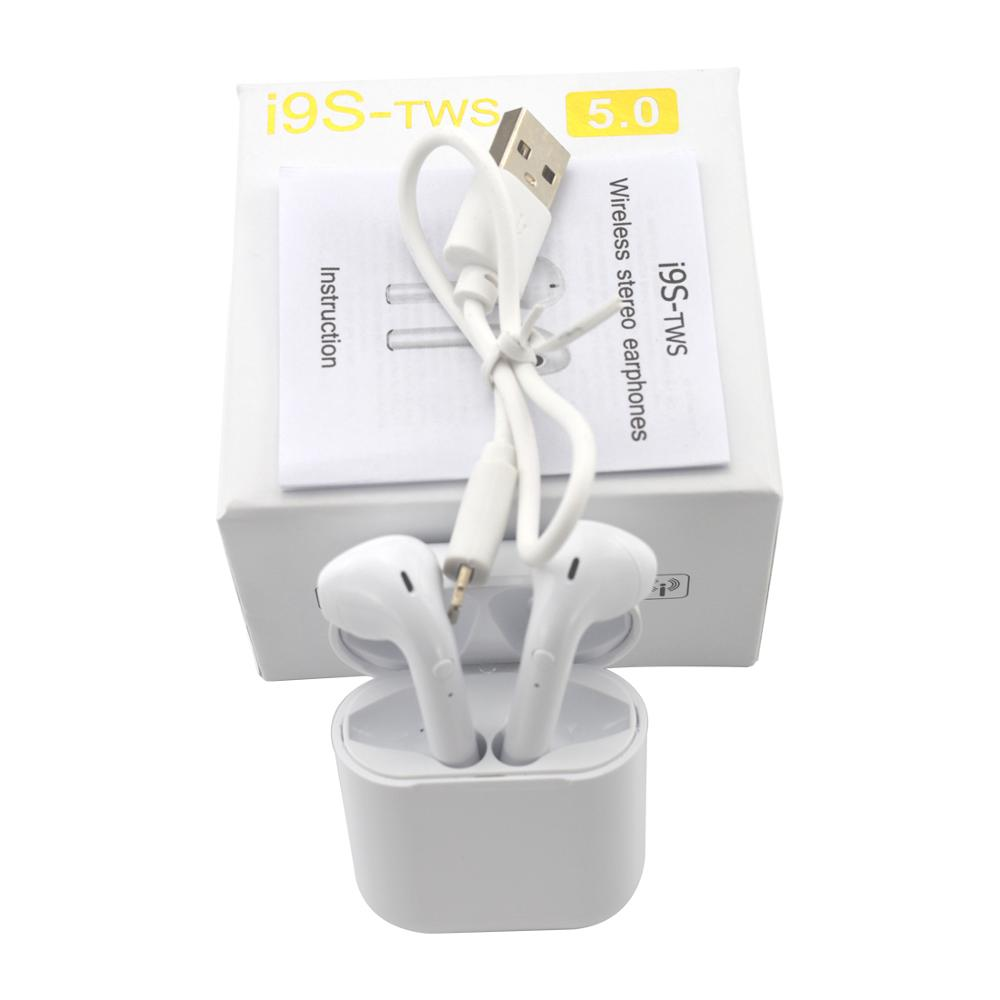 <font><b>i9s</b></font> <font><b>tws</b></font> bluetooth earphones wireless charge headsets <font><b>Aire</b></font> 1:1 copy Pop up earbuds sport earphones Suitable for mobile phones image