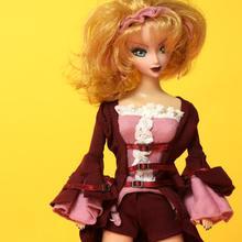 Limited Sale Cool Girl Doll 30cm Cartoon Face Beautiful Women Vintage Dolls (Body dye)