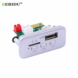 Image 5 - KEBIDU 5 в 12 В Автомобильный MP3 плеер декодер плата аудио модуль беспроводной fm приемник радио WMA FM TF USB 3,5 мм AUX для автомобильных аксессуаров