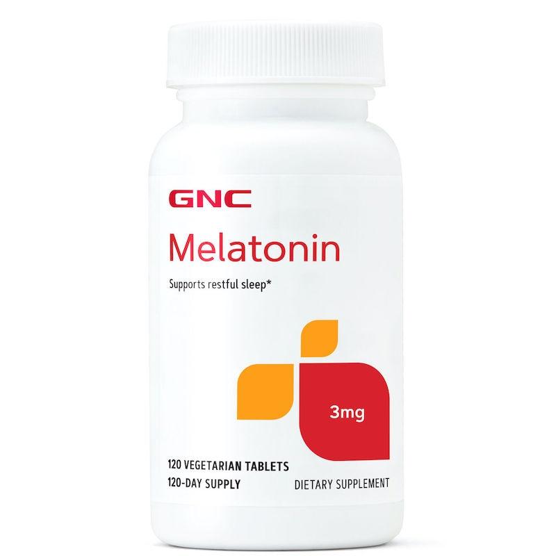 Free Shipping Melatonin 3 mg supports restful sleep 120 pcs    -