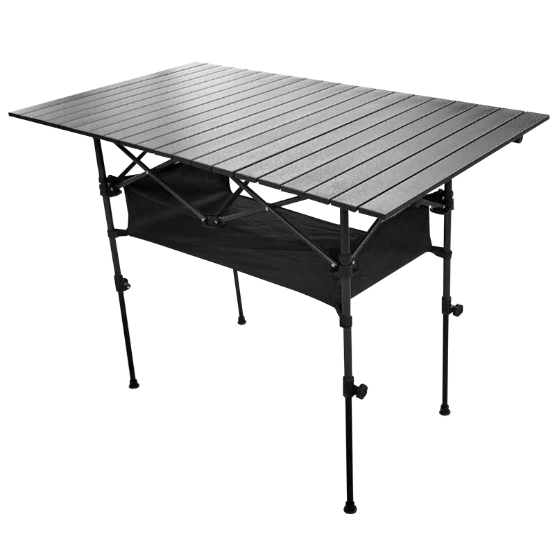 Camping Table Outdoor Folding Aluminum Table Barbecue Picnic Supplies Portable Stalls Table Multipurpose Mesa Plegable
