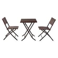 [Товары США] oshion складной ротанговый стул из трех частей