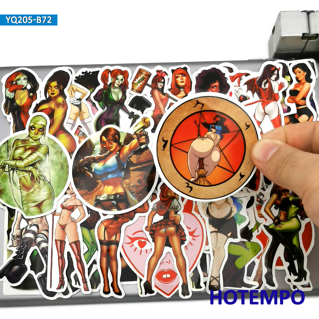 70pcs Sexy Demon Beauty Anger Devil Angel Women Lady Girl Anime Stickers For Mobile Phone Laptop Luggage Skateboard Art Stickers