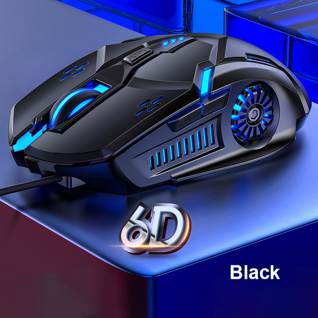 Gaming Mouse Wired Mouse 6D 4-Speed DPI RGB Gaming Mouse For PUBG Computer Laptop 7 Color Breathing Backlight Mouse Gaming Mice 1