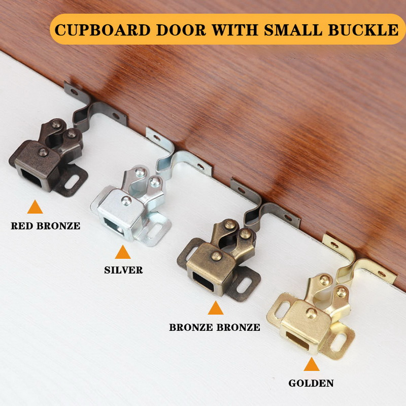 2PCS Magnet Cabinet Catches Door Stop Closer Stoppers Damper Buffer Cabinet Lock Wardrobe Hardware Furniture Fittings