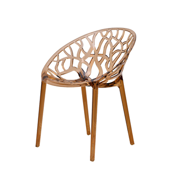 Nordic transparent mesh red crystal chair creative simple plastic backrest outdoor acrylic dining chair personality hollow chair