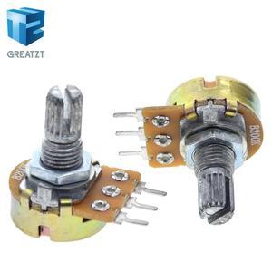 GREATZT WH148 Linear Potentiometer 15mm Shaft With Nuts And Washers 3pin WH148 B1K B2K B5K B10K B20K B50K B100K B250K B500K B1M