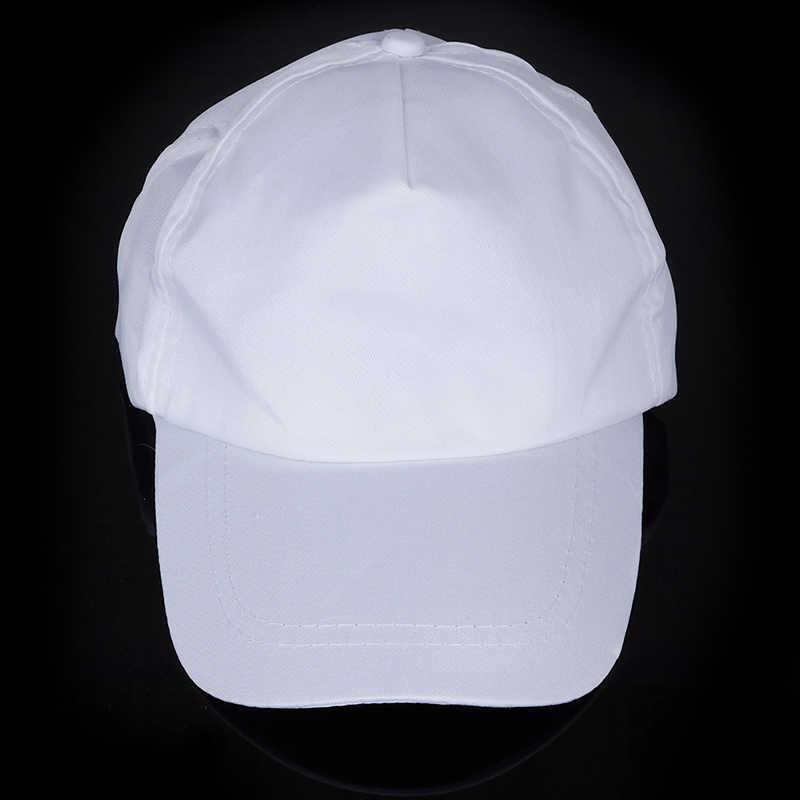 1Pc Bianco dipinto a mano berretto da baseball cap in bianco per bambini FAI DA TE arte dipinta cap