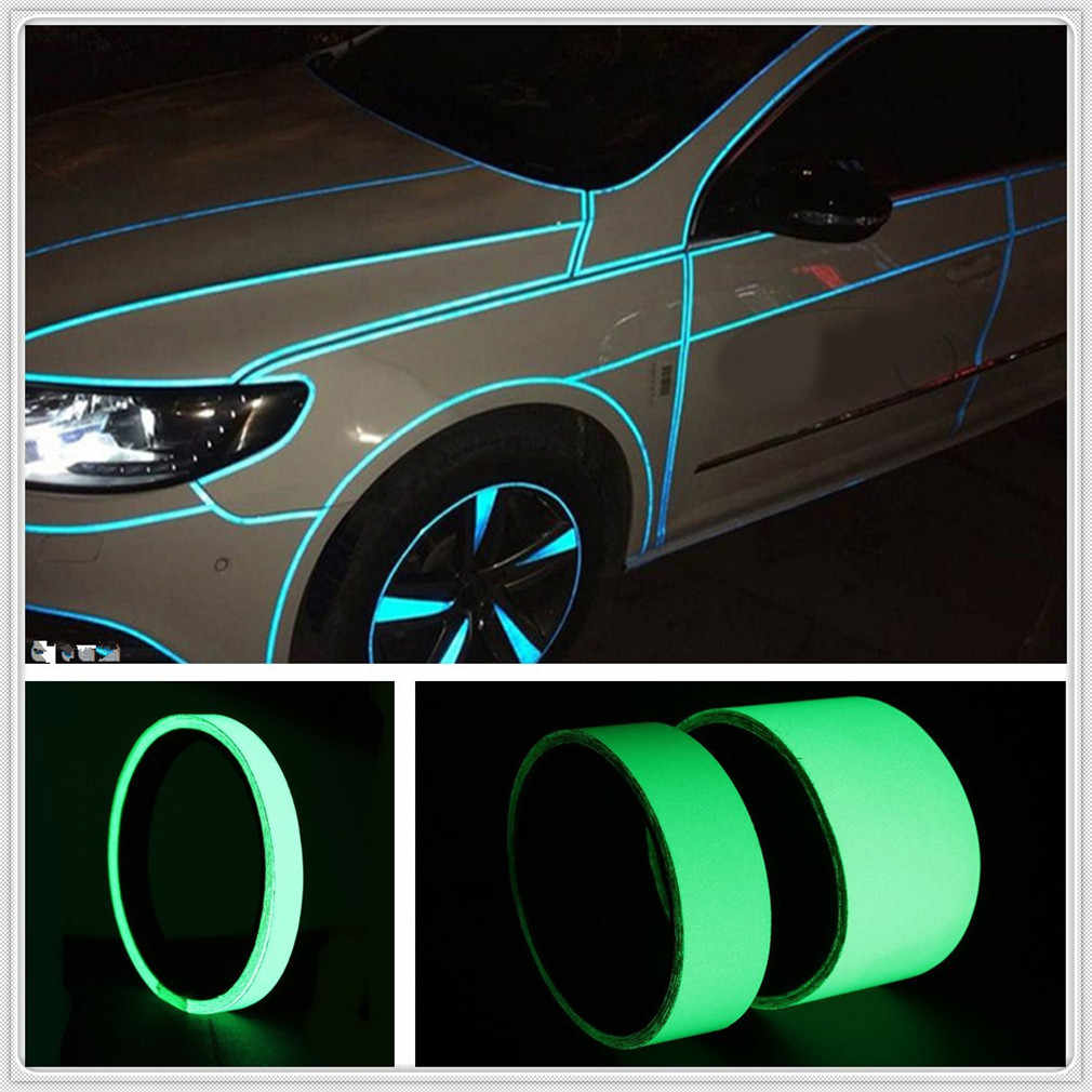 Luminous car sticker Wheel Night Fluorescent Strips Reflective Motorcycle