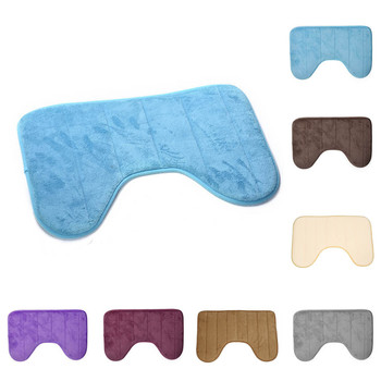 U Shaped Anti Slip Bath Mats and Toilet Carpet for Bathroom Floor Made with Cotton Material