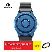 New EUTOUR Gold Magnetic Watch Men Luxury Silicone Fashion Quartz Blue Magnet Ball Waterproof Sport Watch Relogio Masculino