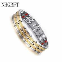 NHGBFT Magnetic healthy care bracelet mens infrared germanium negative ions bangle