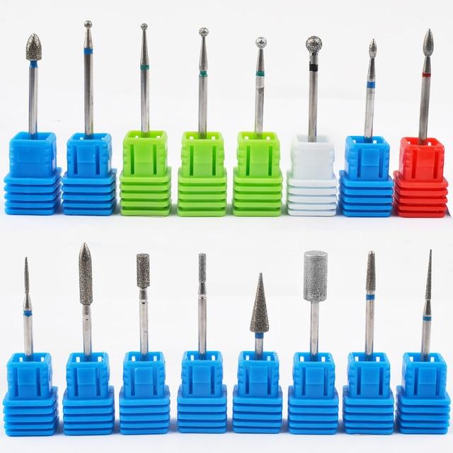 1 sztuk wiertła z węglika wolframu Nail Art 17 rodzaje 3/32 frezowanie Manicure frez do Pedicure urządzenie elektryczne obrabiarki gratowania