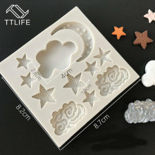 Ttlife Ster Maan Vorm Siliconen Fondant Mold Dessert Decorateurs Chocolade Cookie Mould Zoetwaren Puddingvorm Cake Decor(China)