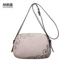 NAISIBAO 2019 New women genuine leather handbags luxury bags designer fashion shoulder Crossbody bag