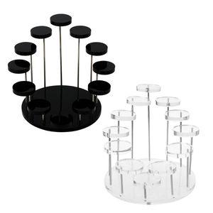 Image 1 - אקריליק טבעת דוכן תצוגת עגילי להראות תמיכה תכשיטי דלפק Props Showcase מחזיק מגש