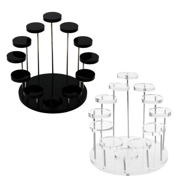 אקריליק טבעת דוכן תצוגת עגילי להראות תמיכה תכשיטי דלפק Props Showcase מחזיק מגש