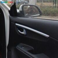 Para kia rio 4 x-line 2018 2019 aço inoxidável abs porta braço superfície escudo guarnição capa decorativa carro-estilo acessórios 4 peças