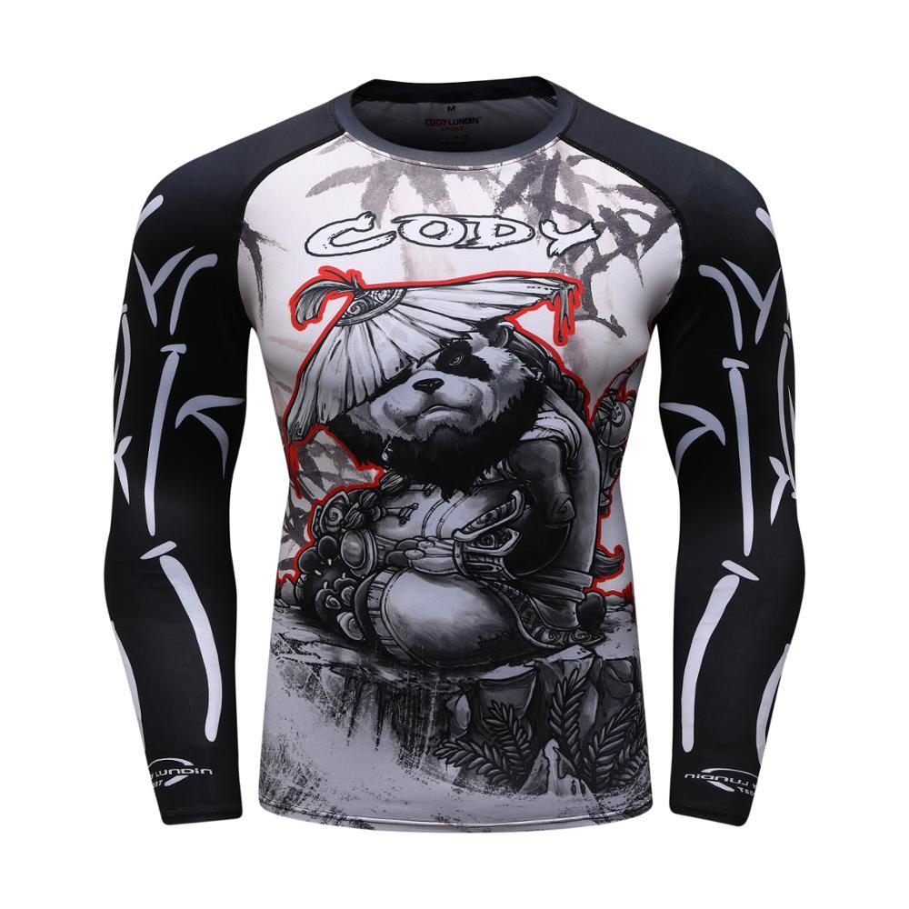 Rashguard Mma Boxing Shirt BJJ Men Muay Thai Print Mma Gorilla Taekwondo Shirt Boxing Thai Fight Boxing