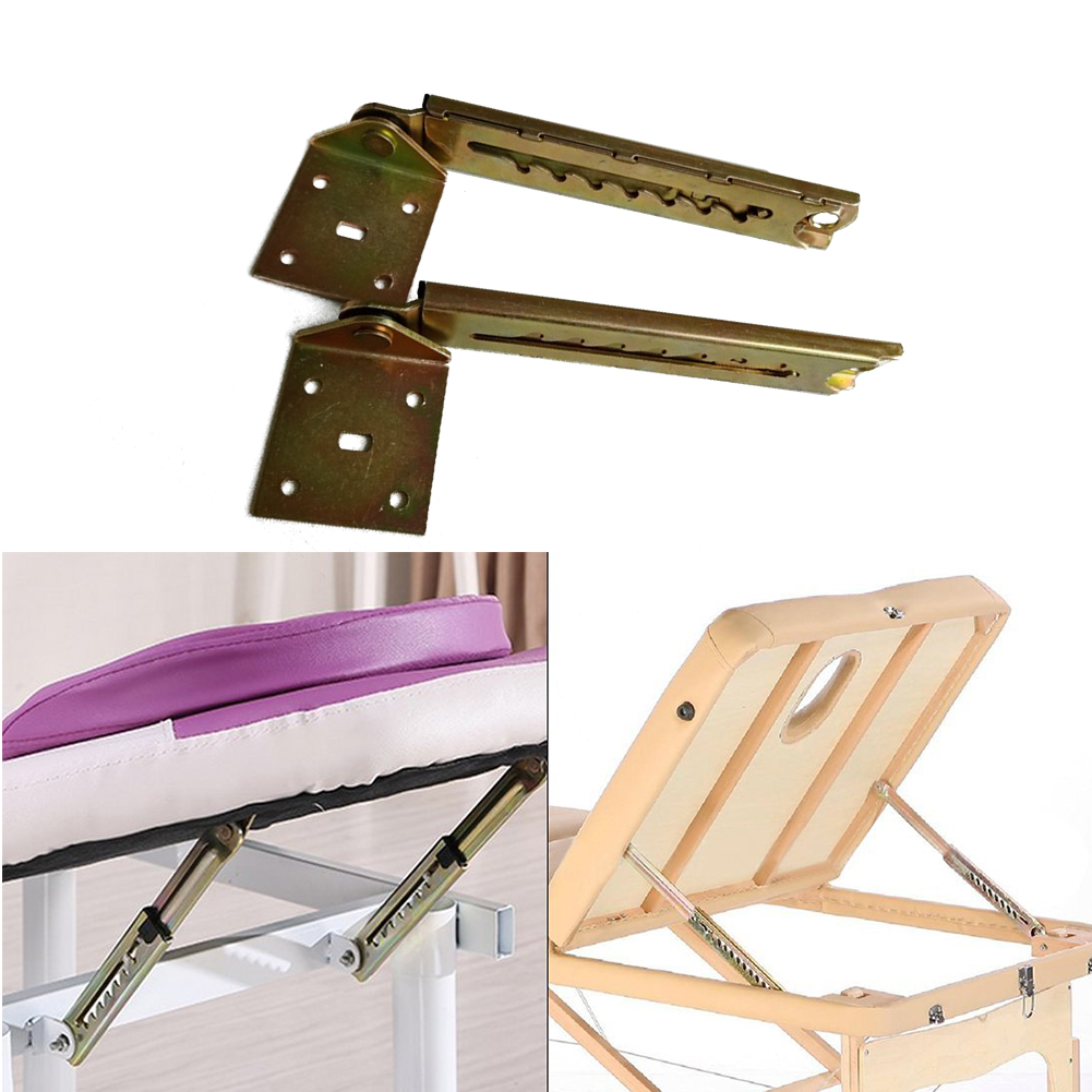 1 çift kafalık ayarlanabilir açı menteşe kanepe ev 7 vitesli dayanıklı aksesuarlar kaldırma çubuğu masası donanım pratik yatak braketi ile