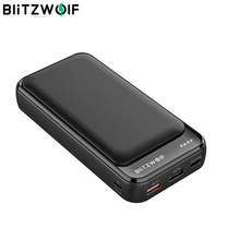 BlitzWolf BW-P11 20000mAh Mobile Power Bank 18W QC3.0 PD Power Bank for iPhone 12 Pro Max for Samsung S10 for Xiaomi for Huawei