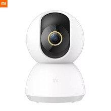 Orijinal Xiaomi Mijia akıllı IP kamera 2K 360 açı Video CCTV WiFi gece görüş kablosuz kamerası güvenlik kamera görünümü bebek monitörü