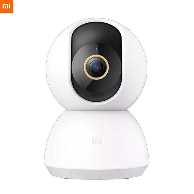 オリジナルxiaomi mijiaスマートipカメラ 2 18k 360 角度ビデオcctv wifiナイトビジョンワイヤレスウェブカメラのセキュリティカム表示ベビーモニター
