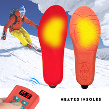 New Heated Insoles with Wireless Remote Control Shock-Absorbant Electric Heating Foot Warmer Insole Heater for Outdoor Activties