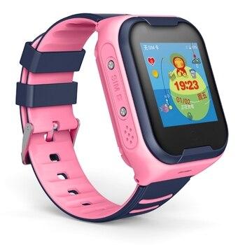 4G A36E Smart Kids Watch Waterproof IPX7 Wifi GPS Video Call Monitor Tracker Clock Students Wristwatch Kids Children Pink