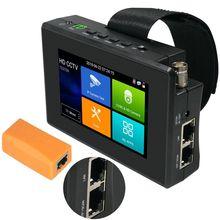 4 אינץ H.265 4K HD IP CCTV Tester צג AHD CVBS CVI TVI מצלמה בודק 8MP 5MP UTP Tester WIFI ONVIF POE 48V 12V החוצה