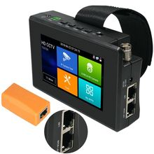 4 pollici H.265 4K HD IP Monitor del Tester del CCTV AHD CVBS CVI TVI Camera Tester 8MP 5MP UTP Tester WIFI ONVIF POE 48V 12V Out