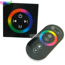 цена на DC12-24V Wall Type RGB led Touch Panel Controller with Wireless touch Panel Remote for LED RGB led strip led panel lights