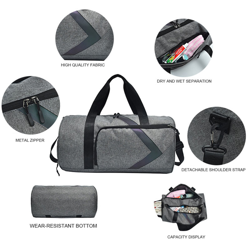 Dry And Wet Fitness Bag Fashion Gym Tas Sac A Dos Sport Outdoor Women Sports Bags For Men Gym Bag Shoe Compartment Training Bag 4