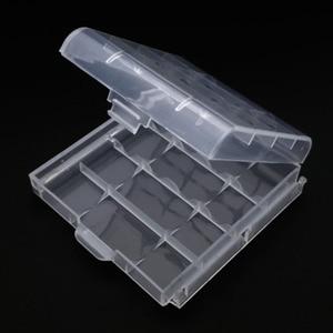 Caja de almacenamiento duradera de baterías 14500 10440, caja dura para 4x 5x AA o AAA, fundas de plástico para baterías, Blanco transparente, al por mayor