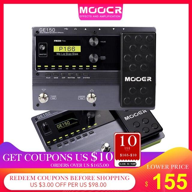 MOOER GE150 najnowszy wpis w linii GE pedał efektów 55 wysokiej jakości modeli amp i 151 różnych efektów