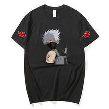 Naruto kakashi hatake camiseta feminina masculina hip hop harajuku tshirt moda de manga curta topo meninos presente