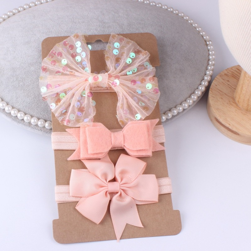 3PCS/lot Nylon Baby Headband Bow Hairwear For Newborn Baby Girl Headband Baby Hair Accessories For Children Kids