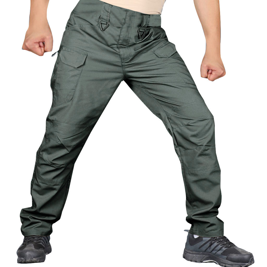 SAGACE Multi-pocket Anti-scratch Cut-proof Splash-proof Multi-function Tactical Outdoor Pants Solid Color Loose Good Quality