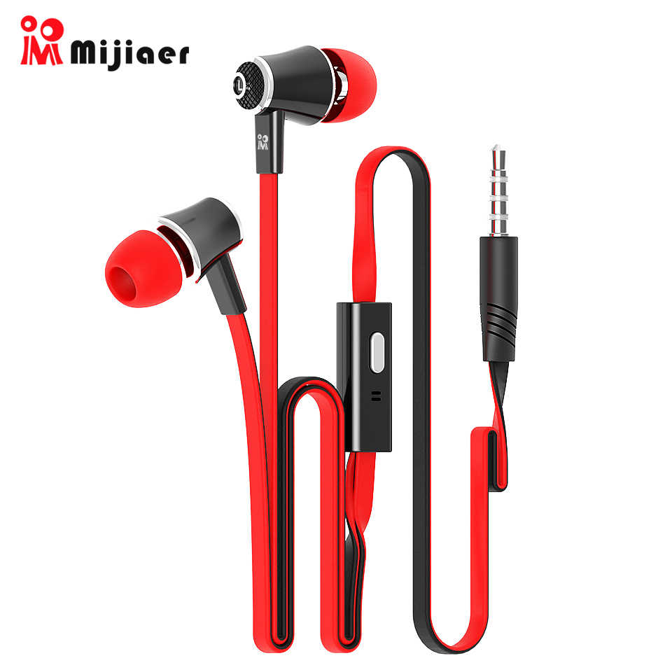 Langsdom Mijiaer JM21 Di Ear Earphone untuk Ponsel Iphone Huawei Xiaomi Headset Kabel Earphone Earbud Earpiece Fone De Ouvido