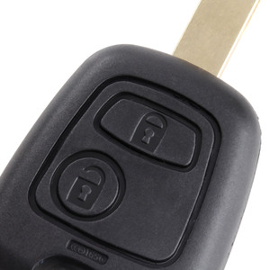 Image 3 - 2 Buttons Replacement Key Shell Uncut Blade Car Remote Blank Key Fob Case Covers For Peugeot 107 207 307 407 607 1007 C2