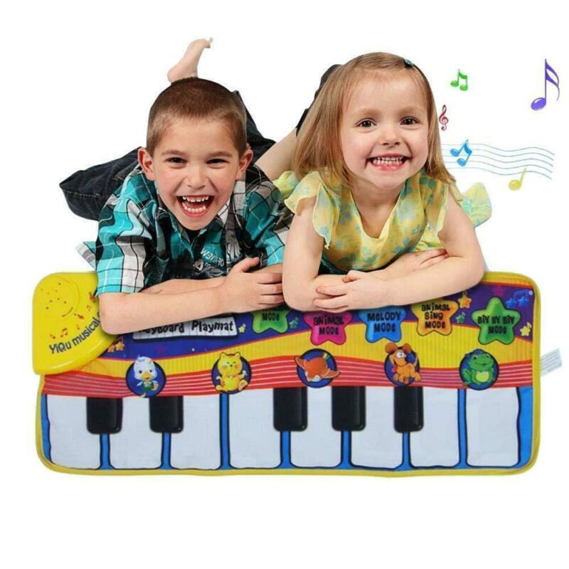 Kids Baby Playmats Musical Music Piano Play Mat Development Animal Educational Soft Toys