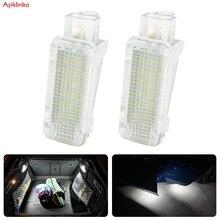 Apktnka 2x led tronco boot luzes lâmpada para skoda octavia fabia superb roomster kodiaq led bagagem compartimento de luz unidades