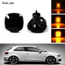 2 pieces Led Dynamic Side Marker Light Turn Signal Sequential Blinker Amber LED Fender Lamps For Audi A3 8L A4 8D S4 B5