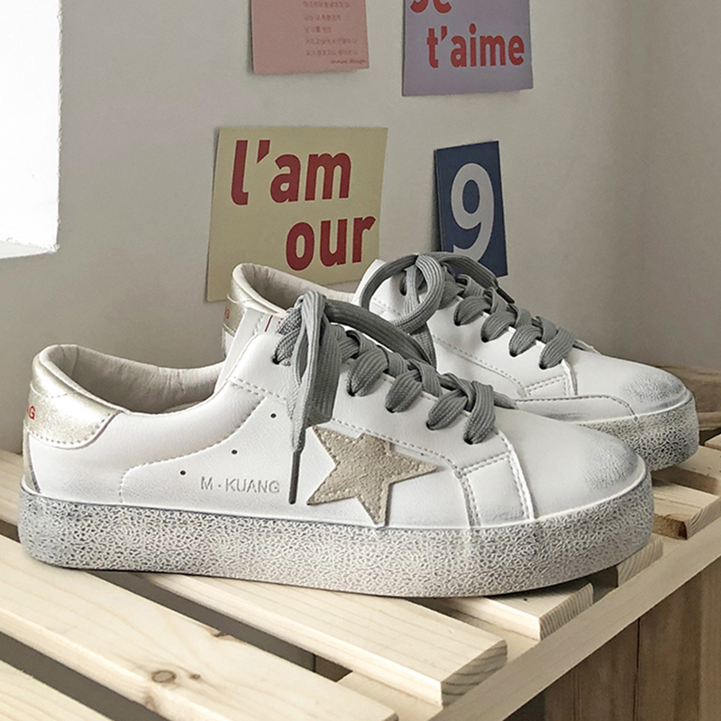 2020 New Arrivals Schue Women's Sneakers Fashion Sports Shoes Canvas Woman Vulcanized Running Vulcanize Shoe With Rubber White