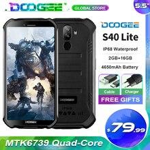 "Doogee S40 לייט מחוספס נייד 2GB 16GB Quad Core 5.5 ""תצוגת 4650mAh 8.0MP פנים מזהה טביעת אצבע מזהה Smartphone"