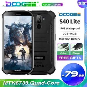 """Image 1 - Doogee S40 Lite sağlam cep telefonu 2GB 16GB dört çekirdekli 5.5 """"ekran 4650mAh 8.0MP yüz kimliği parmak izi kimlik Smartphone"""