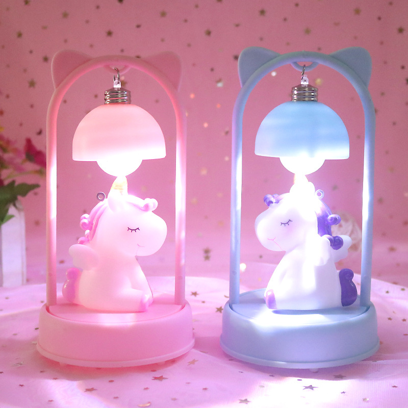 Cute Unicorn Night Light Dream Frame Night Lamp For Bedroom Bedside Desktop Home Decoration Light Kids Baby Xmas Birthday Gift