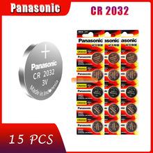 15 X oryginalna nowa bateria do PANASONIC cr2032 3v komórka przycisku baterie monety do zegarka komputer cr 2032 tanie tanio 220mAh 20mm*3 2mm Li-ion