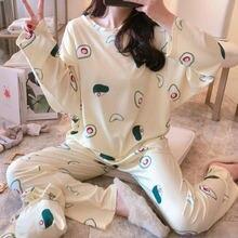 Осенняя женская пижама комплект из 2 предметов осенняя Женская