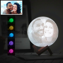 3D Photo Custom Moon Lamp Printing Moonlight Night Light USB Rechargeable Personality Luna Lamp with Your Text Photo Customized